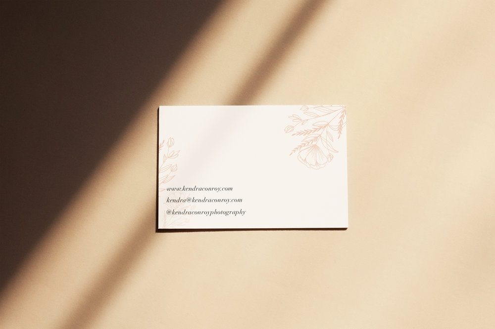 Kendra Conroy Business Card Back