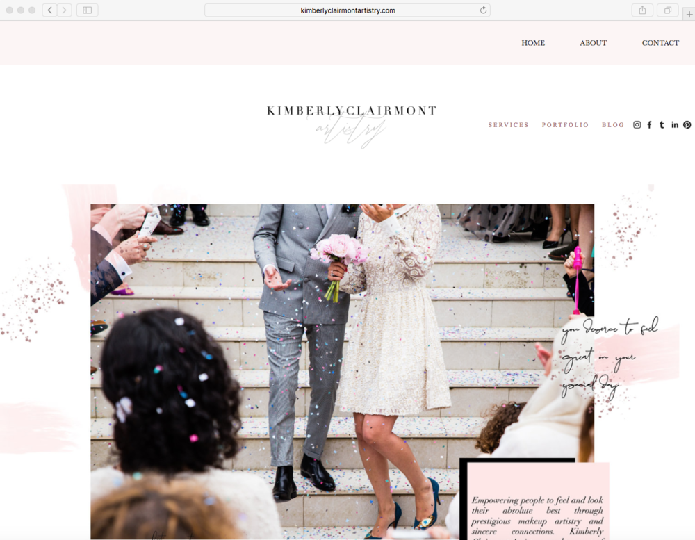 Kimberly Clairmont Artistry Home Page