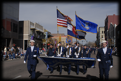 JROTC - Hundreds of area high school students participate in the parade as part of their school's Junior Reserve Officer Training (JROTC) program.