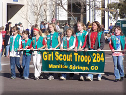 Scouts - The Colorado Springs Veterans Day Parade appreciates the enthusiasm and interest in our event shown by local Scouting groups. Unfortunately, the enthusiasm has truly overwhelmed the parade. We are limited by the City of Colorado Springs to only 1 ½ hours for the parade. Having so much Scout participation in the past has caused us to come dangerously close to our time limit. Therefore, Scout groups are not allowed to register to participate in the parade. We understand this is a disappointment for many Scouts. They are still able to participate if they partner with a military or veteran group to march in the parade. REGISTRATION MUST BE COMPLETED BY THE MILITARY OR VETERAN GROUP and must include the Scout leader's name and contact information.For more information on Scouting, please contact Lonny Barrett at vetparadecs@gmail.com.Scouting groups are asked to keep their number of scouts per pack as close to 10 as possible.  This regulation has been established for the safety of the children, as well as the rest of the parade participants.  We also recommend that scouts traveling on foot are over the age of 9 years old.  Scout banners are acceptable, however, scout floats are not.  We encourage the scouts to be incorporated with the display of the military or veterans group they are traveling with.