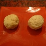 "Can you tell which is the ""control"" matzoh ball and which is the gluten-free one?"
