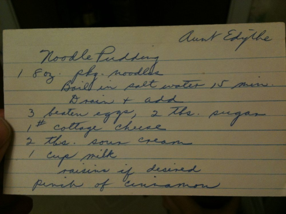 Grandma's original handwritten recipe