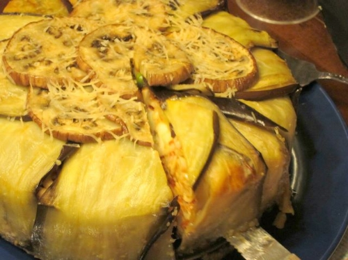 Timbale (Eggplant-encased Spaghetti Pie)  (image T. Freuman)
