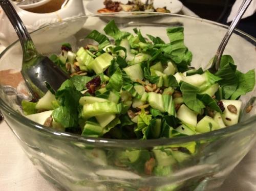 Bok Choy Salad with Peanut Vinaigrette  (image T. Freuman)
