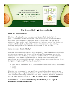Click here to download  The Bloated Belly Whisperer: FAQs