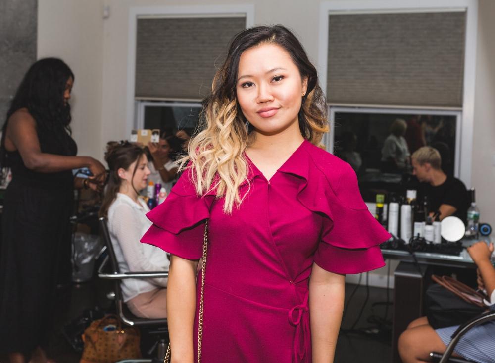 Lifestyle Expert Mariann Yip flaunts her fresh curls.