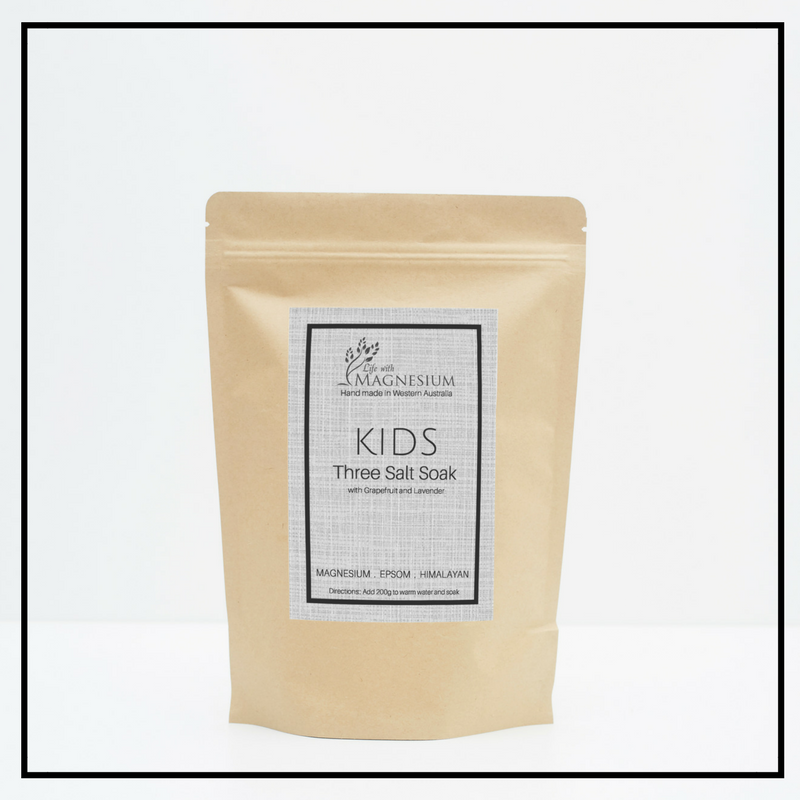 kids three salt soak