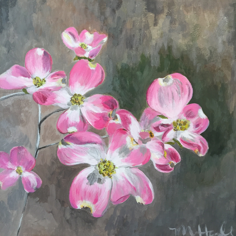 Original Dogwood acrylic painting