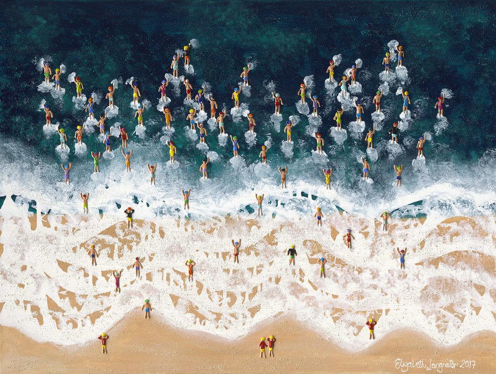 Ocean Classic 91cm x 121cm is one of ten paintings selected for the Kings School Art Fair