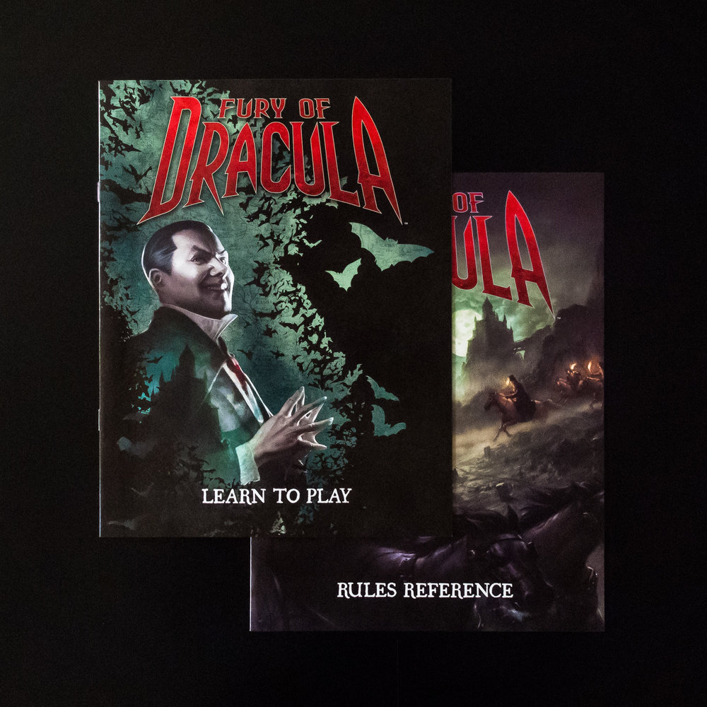 Fury of Dracula. Rules separated into two books.