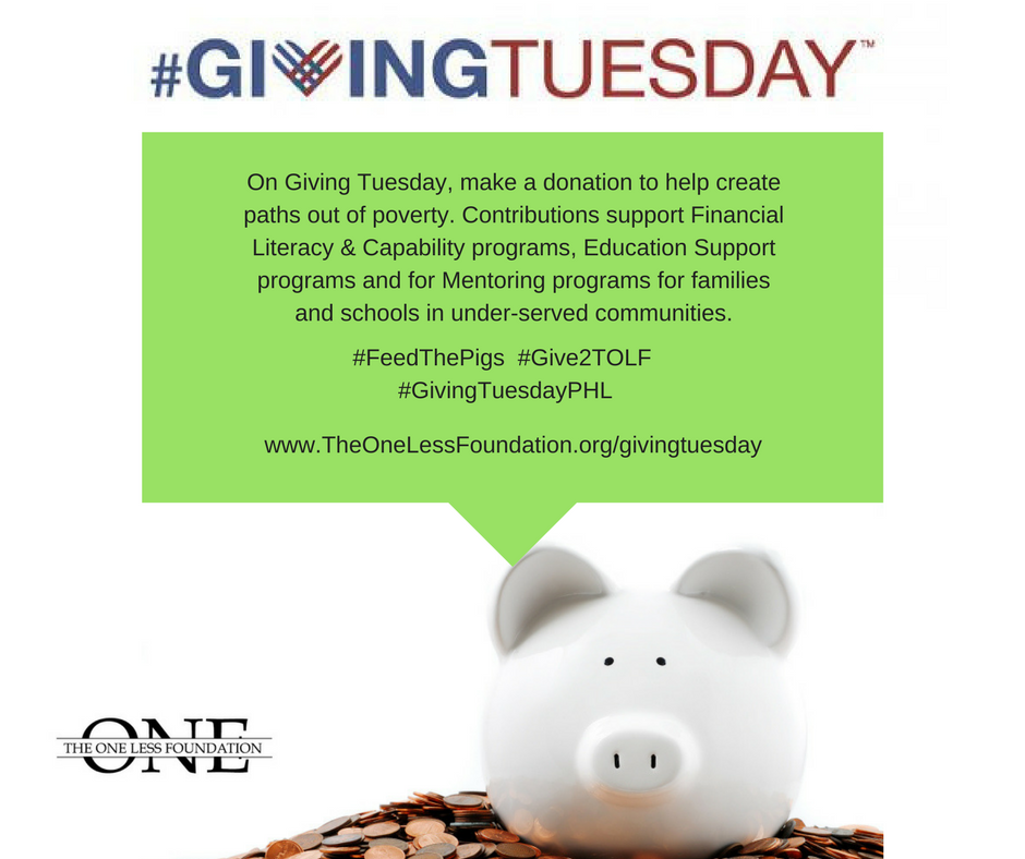 Make a donation  for 2017 Giving Tuesday  - We're appreciative of your contributions and know that every donation makes a difference. Your donation today helps get us closer to reaching our goal of raising $10,000 for Giving Tuesday.