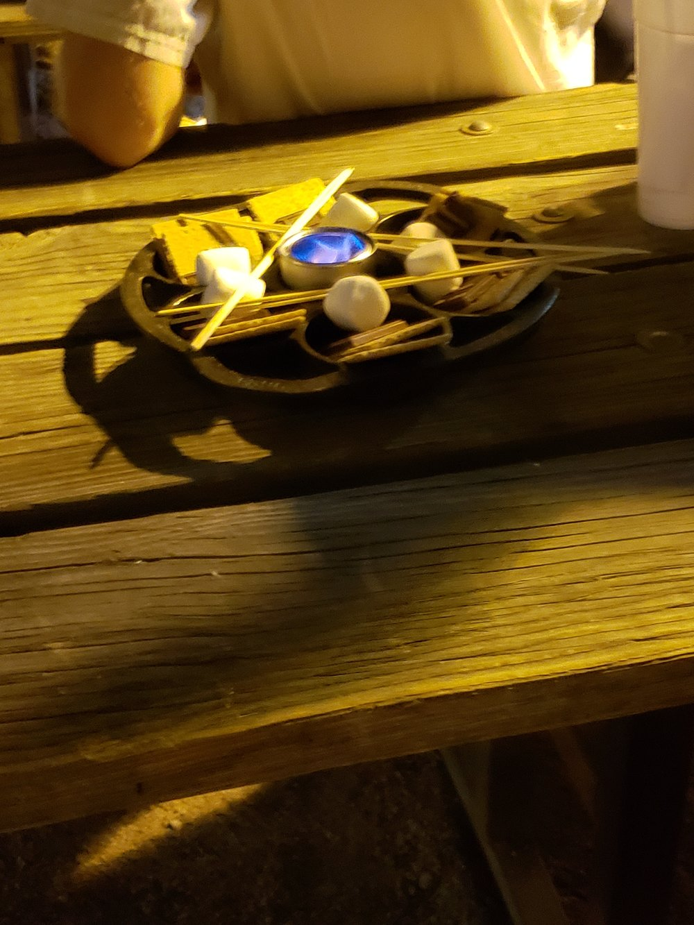 Making s'mores at an after class getaway at the Buffalo Chip Saloon in Cave Creek AZ