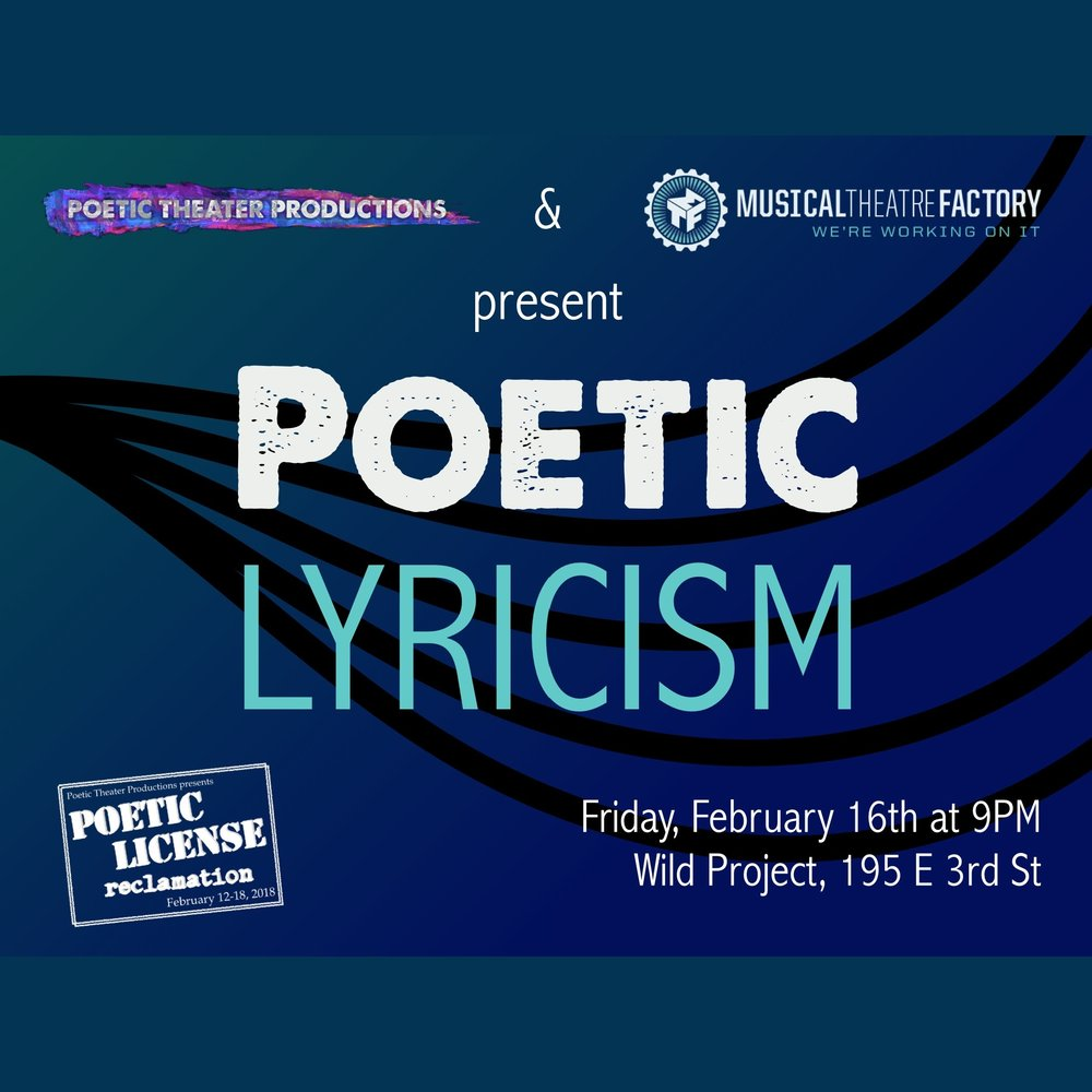 February 2018 - Caitlin and composer Durra King-Fung Leung teamed up to create an original song with lyrics in the style of #urbanhaiku. Performing as part of Poetic License,Feb 16th at 9:00 PM at Wild Project and featuring Sarah Franco as vocalist.