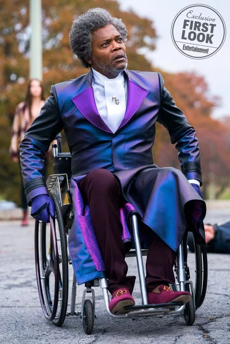Samuel L. Jackson looking spiffy as  Mr. Glass