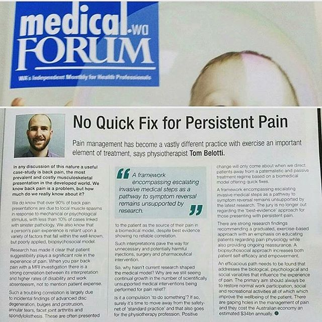 Guest Column - At @innerfocusphysiotherapy we empower our clients with evidence based pain education & exercise rehab. www.innerfocusphysio.com.au
