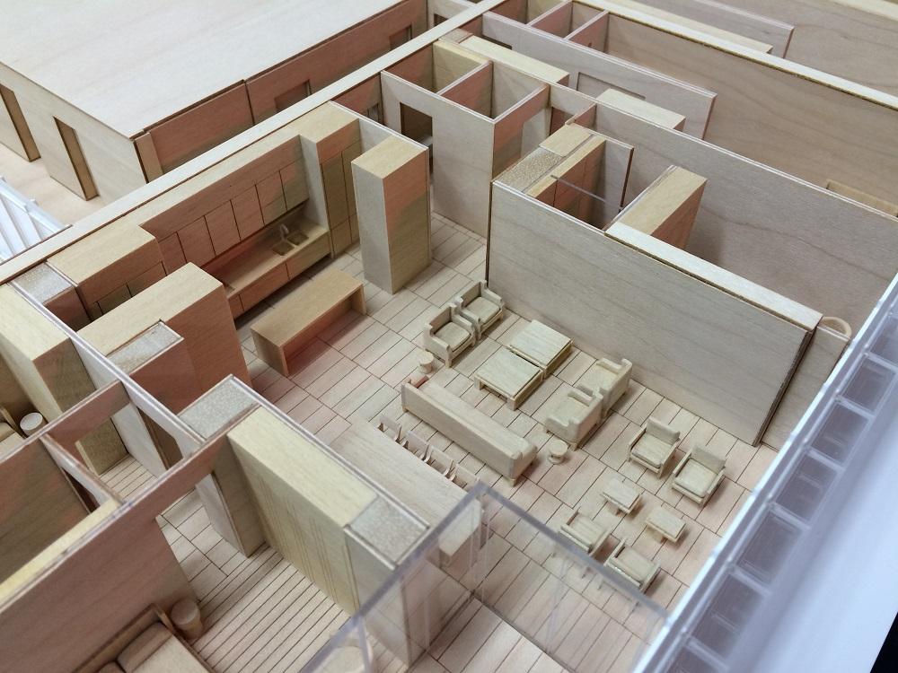 Barangaroo timber model by Porter Models