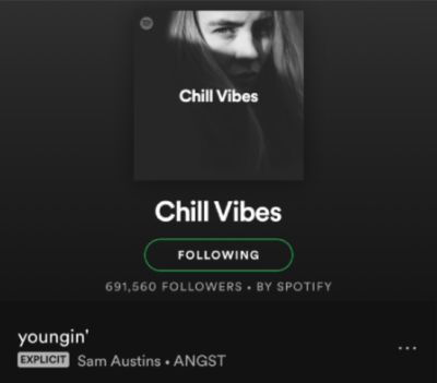Youngin' on Spotify's Chill Vibes
