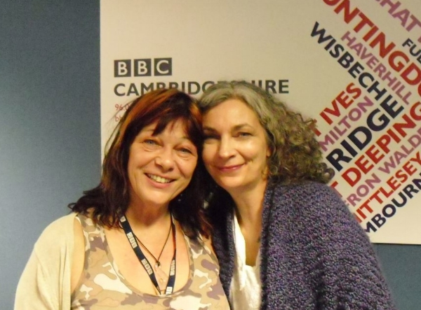 With Sue Marchant at BBC Cambridgeshire after one of many appearances over several years.