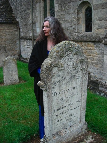 "On one of many ""ghost hunts"" in England"