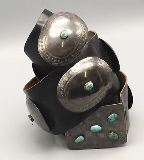 501c811fa Vintage Sterling Silver and Turquoise Concho Belt — Western Trading Post