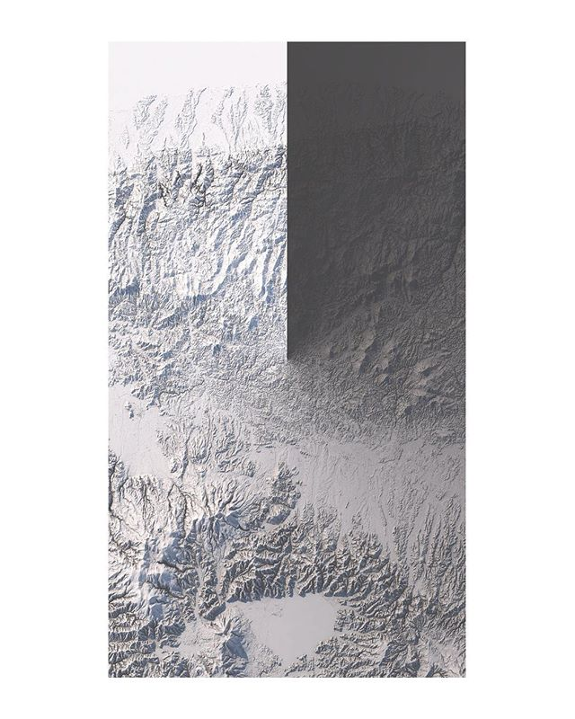 FUKUSHIMA PREFECTURE * Data by JAXA * * * * * #amapaday #xuxoe #light #graphicdesign #blackandwhite #design #3d #cinema4d #digital #graphics #cgi #fukushima #3dfordesigners #designers #map #landscape #c4d #minimalism #creatives #graphic #itsnicethat #mountains #rendering #texture #japan #gradient #render #topography #map #digitalart