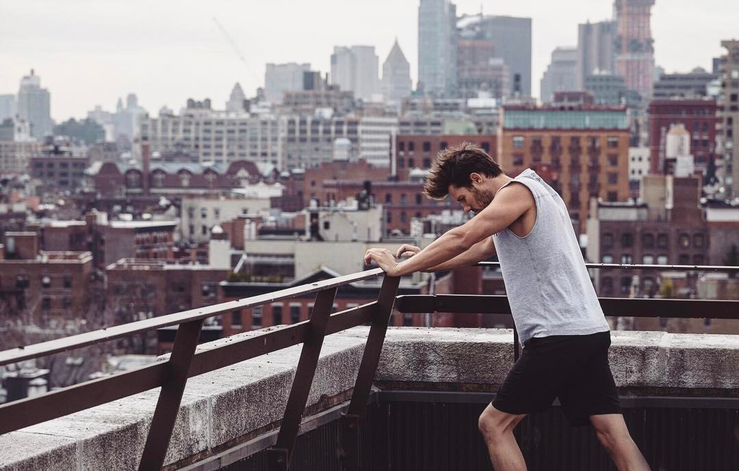 JD in a campaign for his activewear label  Dundas Fit