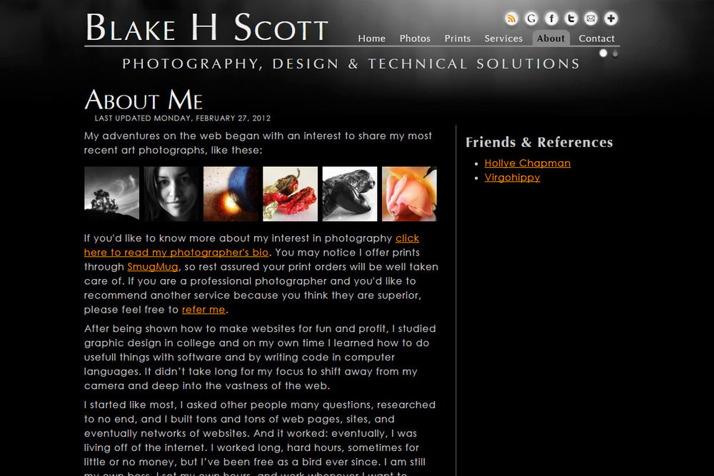About Me. A little personal touch can make clients feel more comfortable working with you.