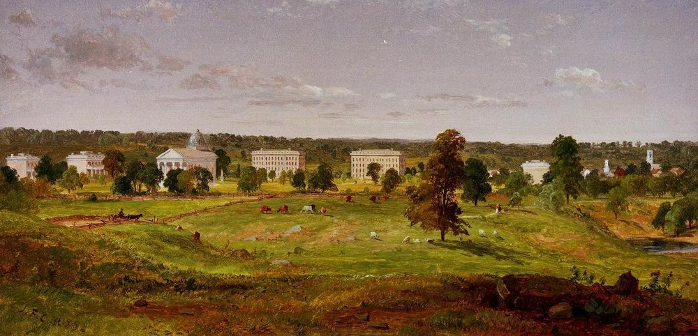 University of Michigan, 1855.  Jasper Francis Cropsey - Bentley Historical Library