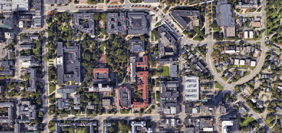 University of Michigan, 2017. Google Maps