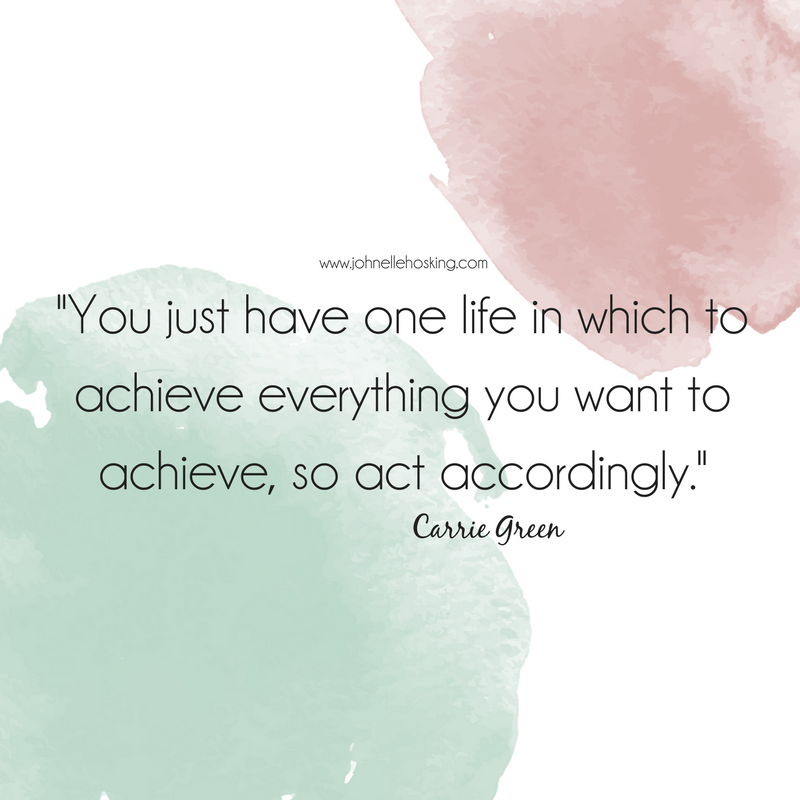 You just have one life in which to achieve everything you want to achieve, so act accordingly..png