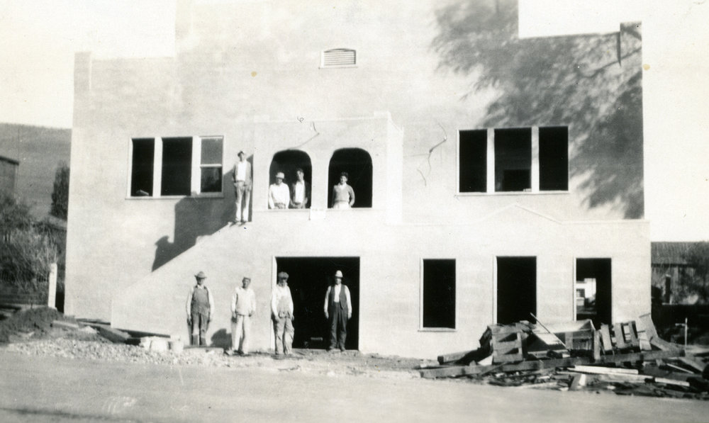 Nearing the end of the 1931 remodel.