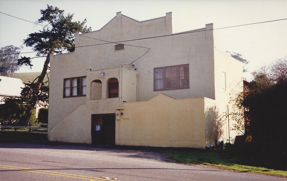 Tomales Town Hall c. late 1970s.