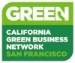 Proud member of the California Green Business Network of San Francisco.
