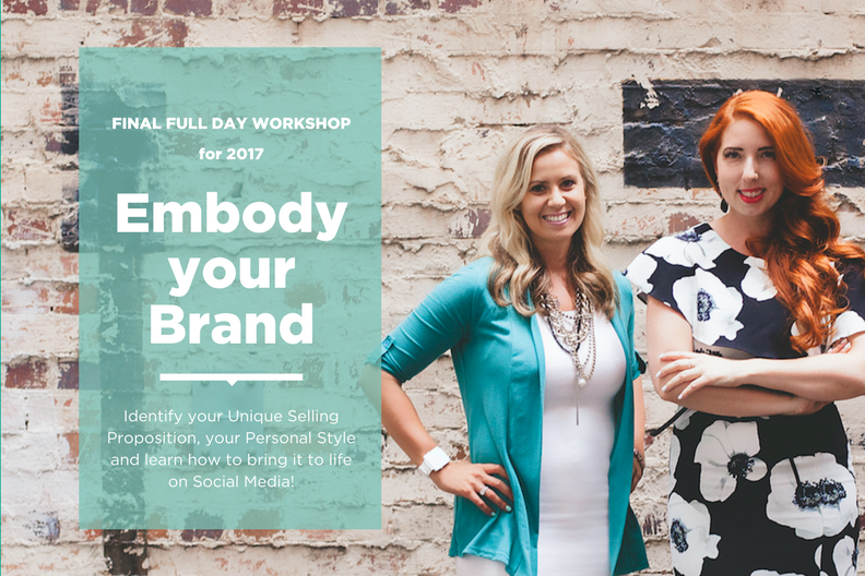 Additional Date - 25/11 CONFIRMED! - The overwhelmingly positive Feedback from our Launch Event of our full Day Workshop 'EMBODY YOUR BRAND' resulted in a waiting list for 2018 already.So we are super excited that we found ONE MORE DATE in 2017 for the High-Flyers and Go-Getters who don't want to wait and are ready to identify their Personal Brand, their Style but also bring it to Life on Social Media. Book your Spot and EMBODY YOUR BRAND on the 25th November in Brisbane!!