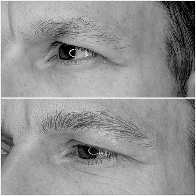 Sublte men's microblading 💕  Men are usually concerned that their brows will look feminine or too obvious after having microblading done.  We like to keep their brows as natural looking as possible. At touch appointment we will add a few more hairstrokes. This will be an easy transition to a fuller brow.  #mensmicroblading #microblading  #vancouvermicroblading #microbladingformen #sparsebrows #mensbrows #cosmetictattoo #kitsilanobrows #vancouver #vancitybrows  #vancity