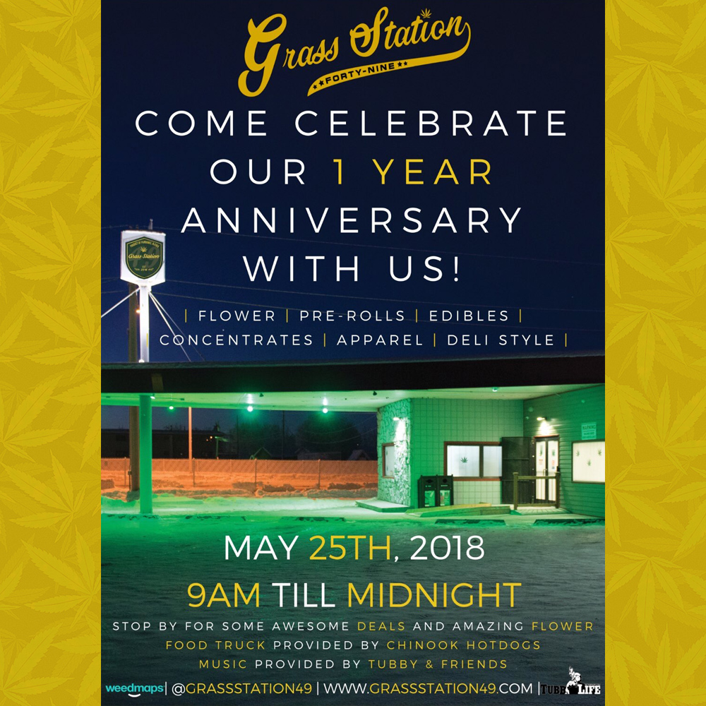 Birthday parties are already fun, but I think this one's gonna be lit. Get it, lit? I thought it was funny. May 25th. Grass Station 49. Tubby & Friends. Come celebrate!
