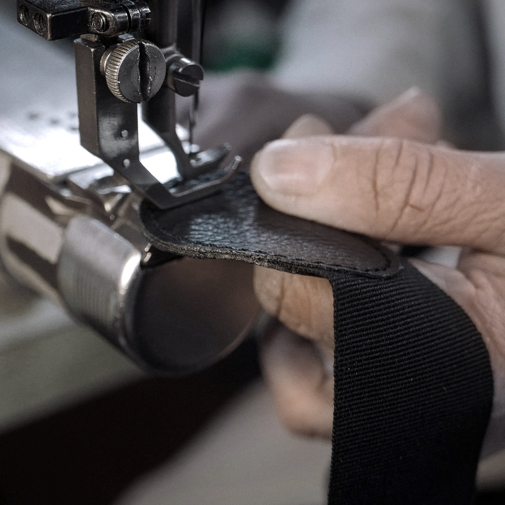 The Manufacturing - Alvener products are handmade by craftsmen in the North of Italy using centuries-old skills in leatherwork. It takes two hands around 16 hours to produce our Signature Holdall.As we work with premium natural leather, every hide is a little different by nature. This is why you can't leave quality control, choice of cuts, cutting or stitching to a machine. We work with machines where they support the experienced hand and eye but not replacing them.This painstaking production is what sets Alvener products apart from mass-produced luxury goods.