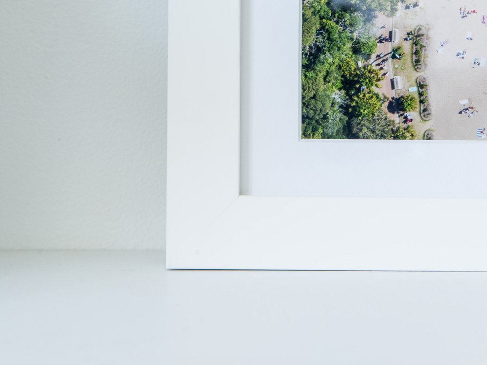 SIMPLE FRAME - It's just that, a simple timber frame with bright white matt board.Available in White or Raw Timber