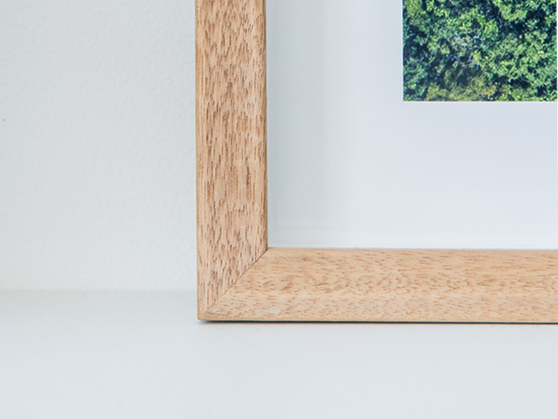 BOX FRAME - A deep frame, print is set back with the glass at the front. Clean, modern, this is premium! Available in White, Tasmanian Oak and Black.