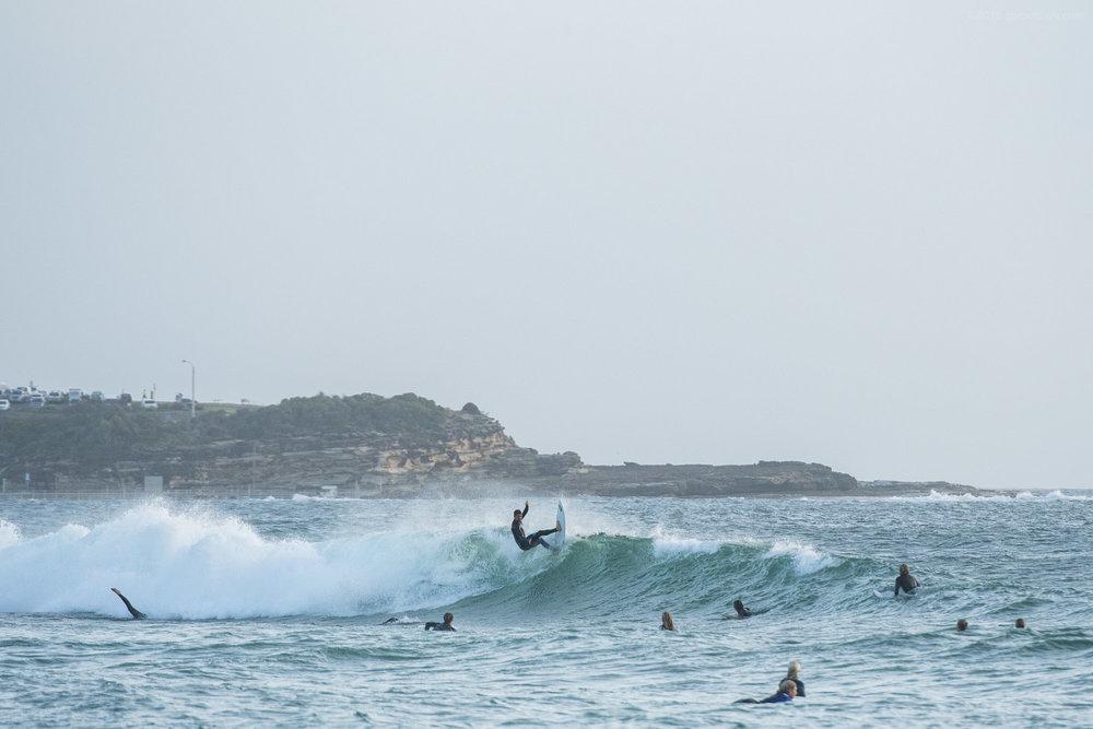 High-tide foam climb