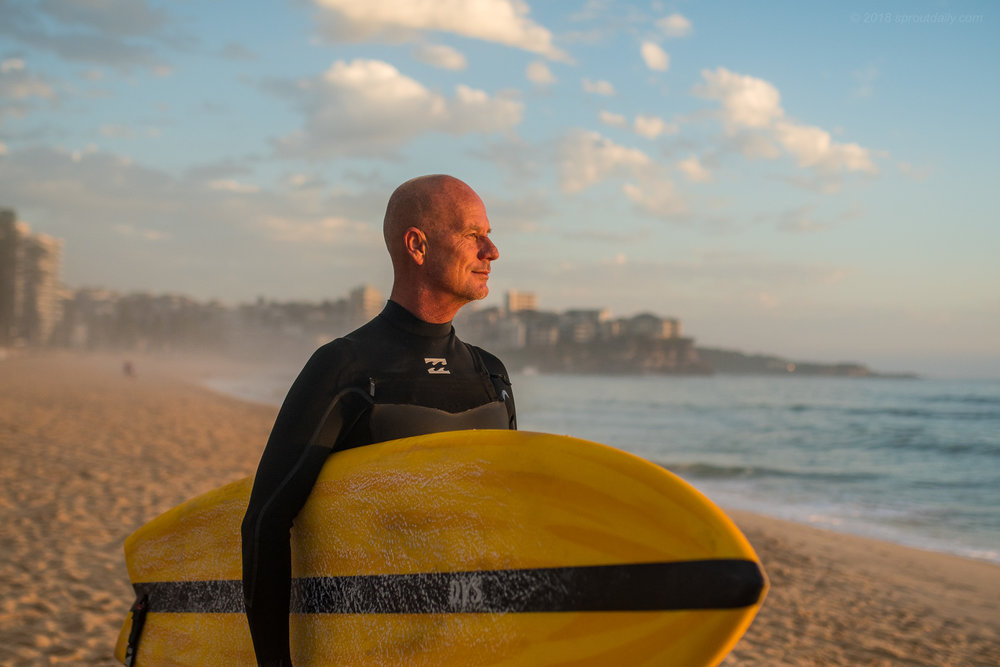 Pete Mitchell - Digs his twin fins