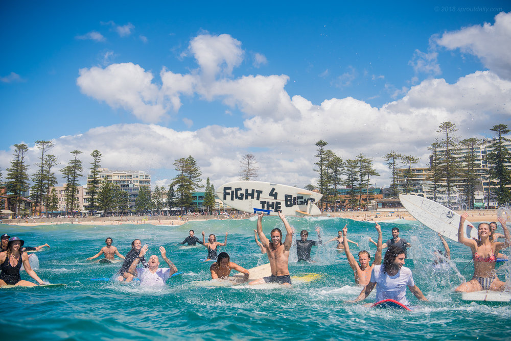 #FightForTheBight - Paddle Out at Manly Yesterday