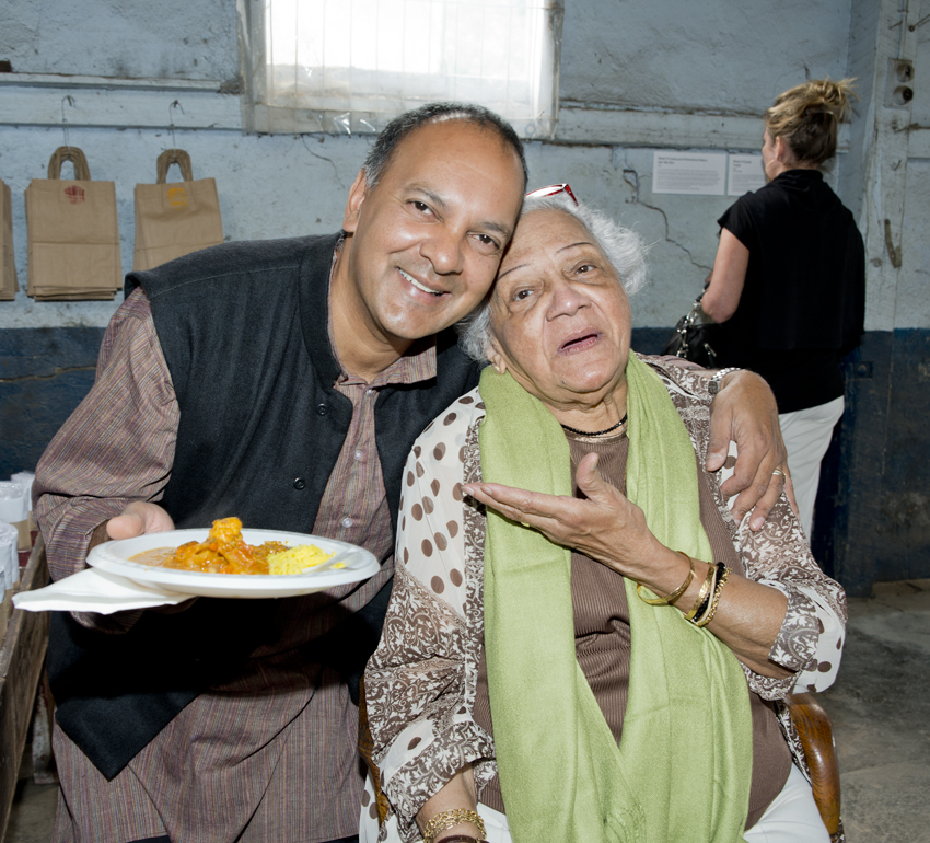 My Octogenarian mum who I cooked the meal with for the project