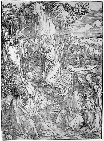 Christ on the Mount of Olives by Albrecht Dürer