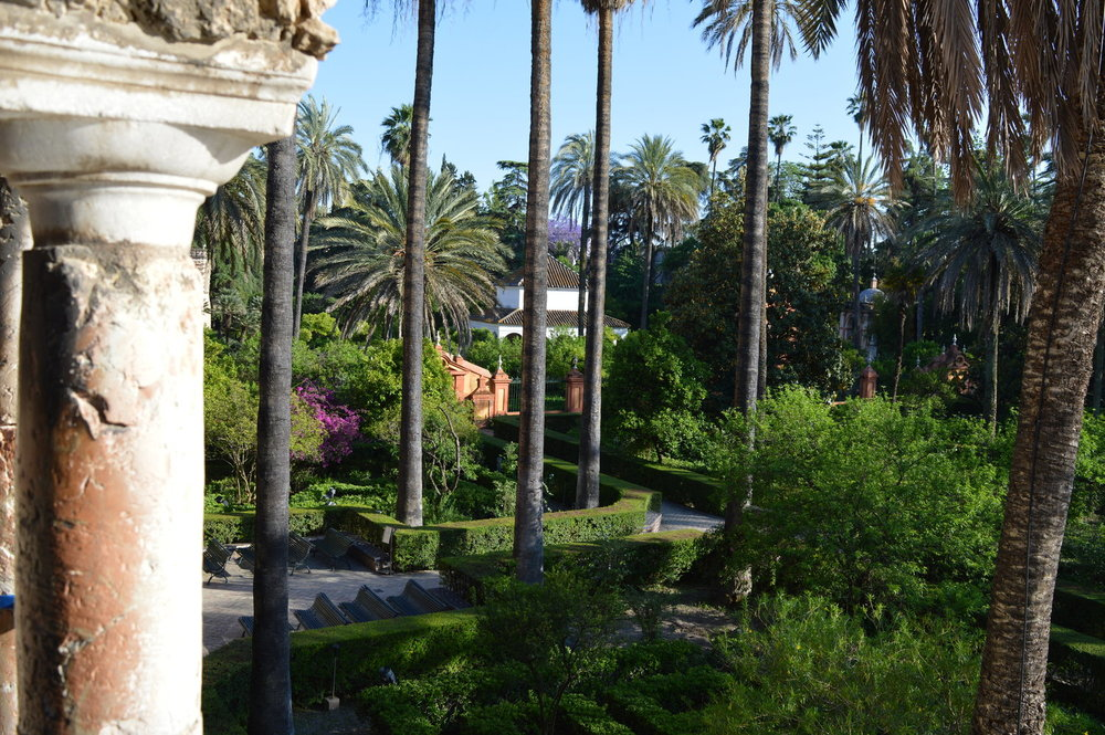 The gardens within the Alcazar Palace