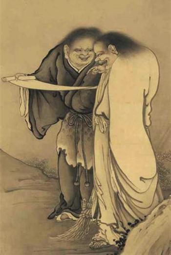 Han-shan en zijn metgezel Shih-te
