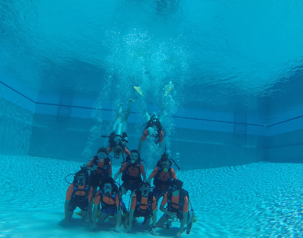 We are building confidence so that the student can enjoy their experience when they SCUBA and snorkel in the ocean