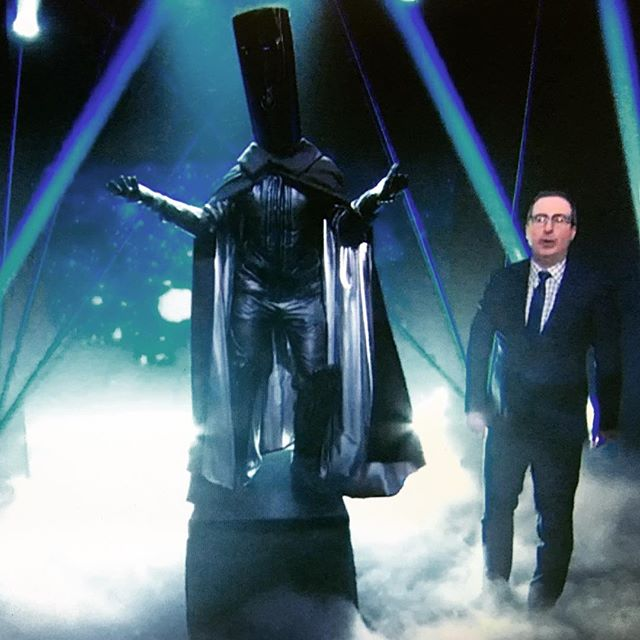 We salute you #lordbuckethead #johnoliver #omg