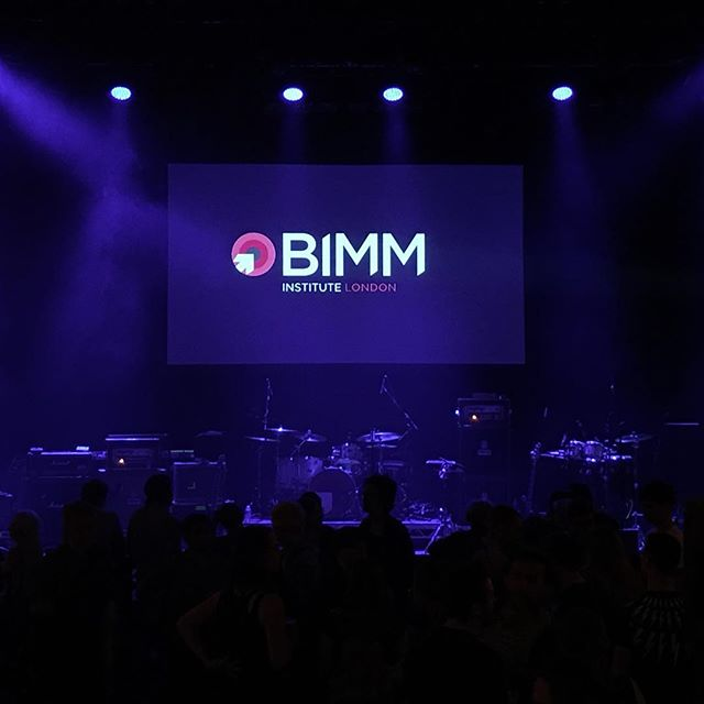 BIMM London Graduation at Shepherds Bush Empire ... #AsDescribed #Video #Projection #NewMusic #BIMM