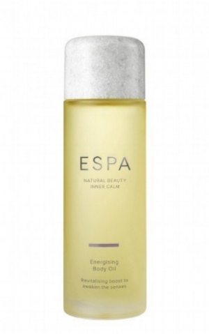 ENERGISING BODY OIL   A revitalising and zesty body oil to deliver an energising boost and awaken the senses. Peppermint and Eucalyptus swiftly enliven and energise, while Rosemary helps focus the mind and Sweet Almond Oil deeply nourishes, for beautifully soft, supple skin.